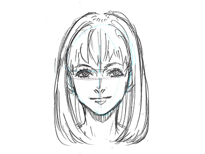 ①顔の描き方_正面デッサン