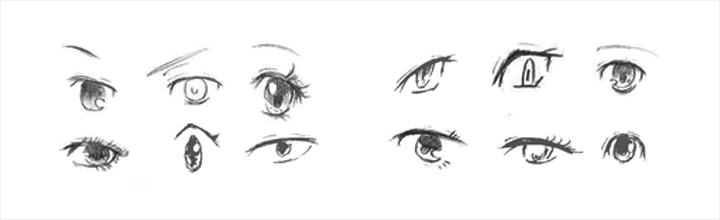 色々な目の形