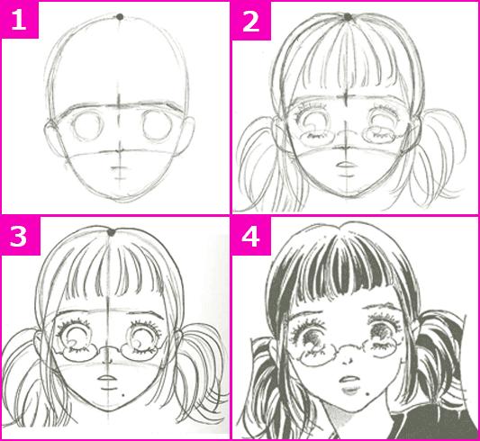髪の毛の描き方